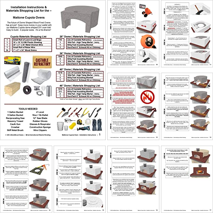 Amazon.com: Kit de horno de pizza • Forno exterior en forma ...