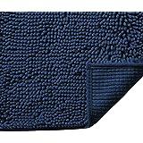 Alfombra de baño de microfibra de felpa, ultra suave, lavable, secado rápido, absorbente, para recámara, cocina, antideslizan