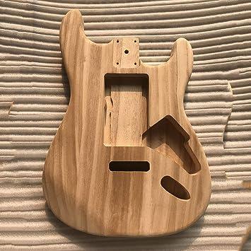 Cuerpo de guitarra de bricolaje sin terminar Cuerpo de arce para guitarra estilo Fender ST - Color madera: Amazon.es: Instrumentos musicales