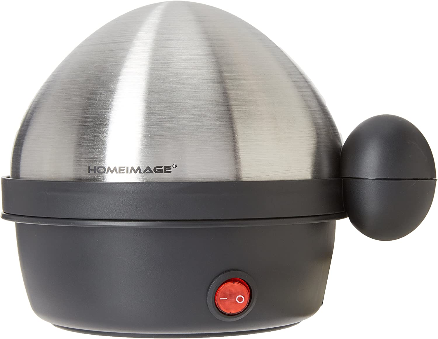 HOMEIMAGE Electric 7 Egg Cooker and Poacher with Stainless Steel Tray & Lid - HI-200AS