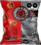 Crops & Bros Botana Horneada Hecha de Arroz, Quinoa, Lenteja y Mijo, Chile Chipotle, Chile Chipotle, 25 gramos