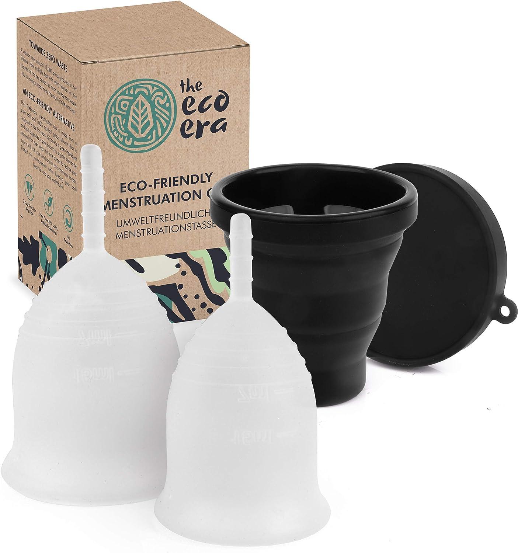 Copa menstrual S y L, incluye vasos plegables higiénicos, sin ...