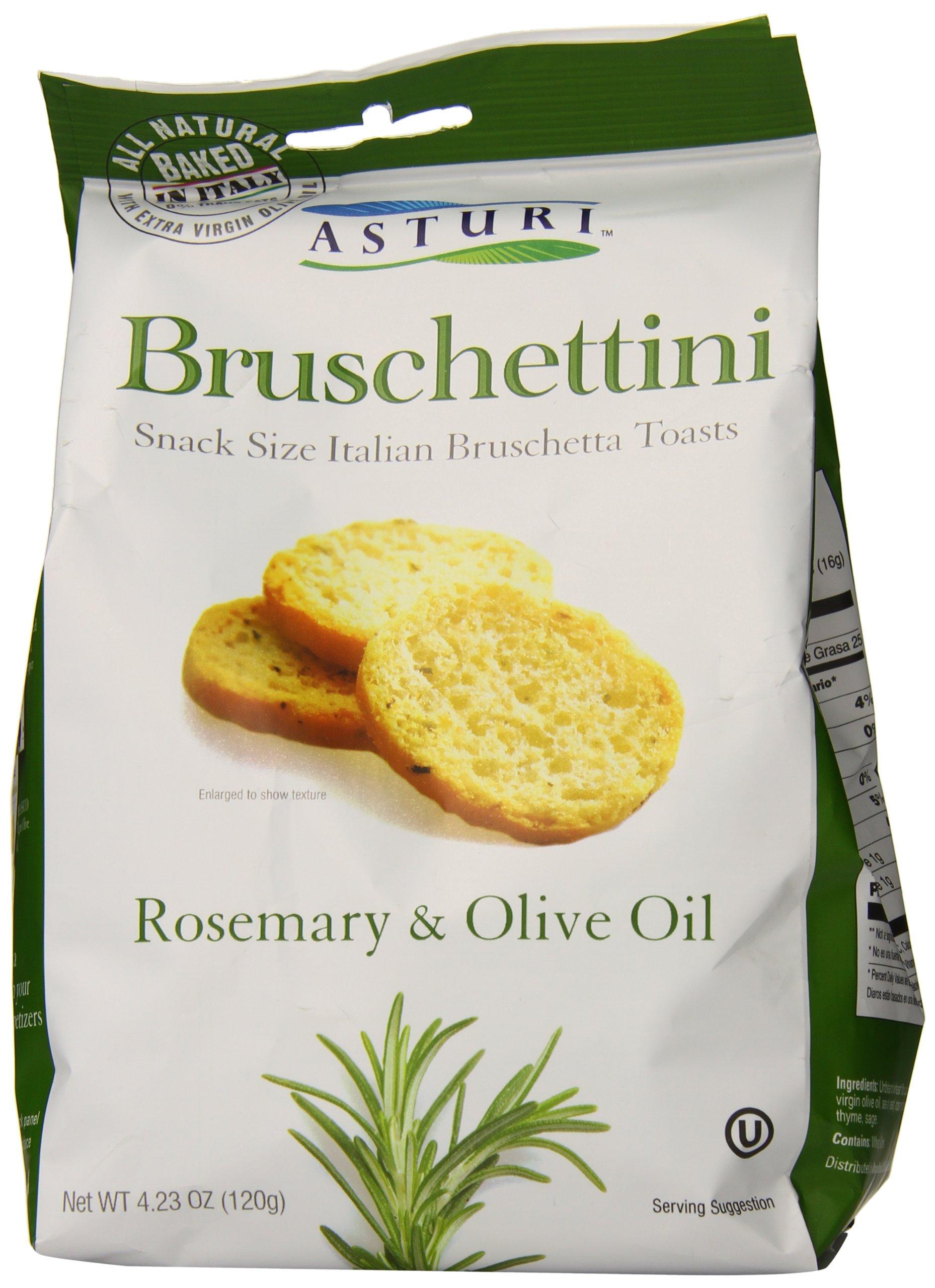 Asturi Bruschettini, Rosemary and Olive Oil, 4.23 Ounce