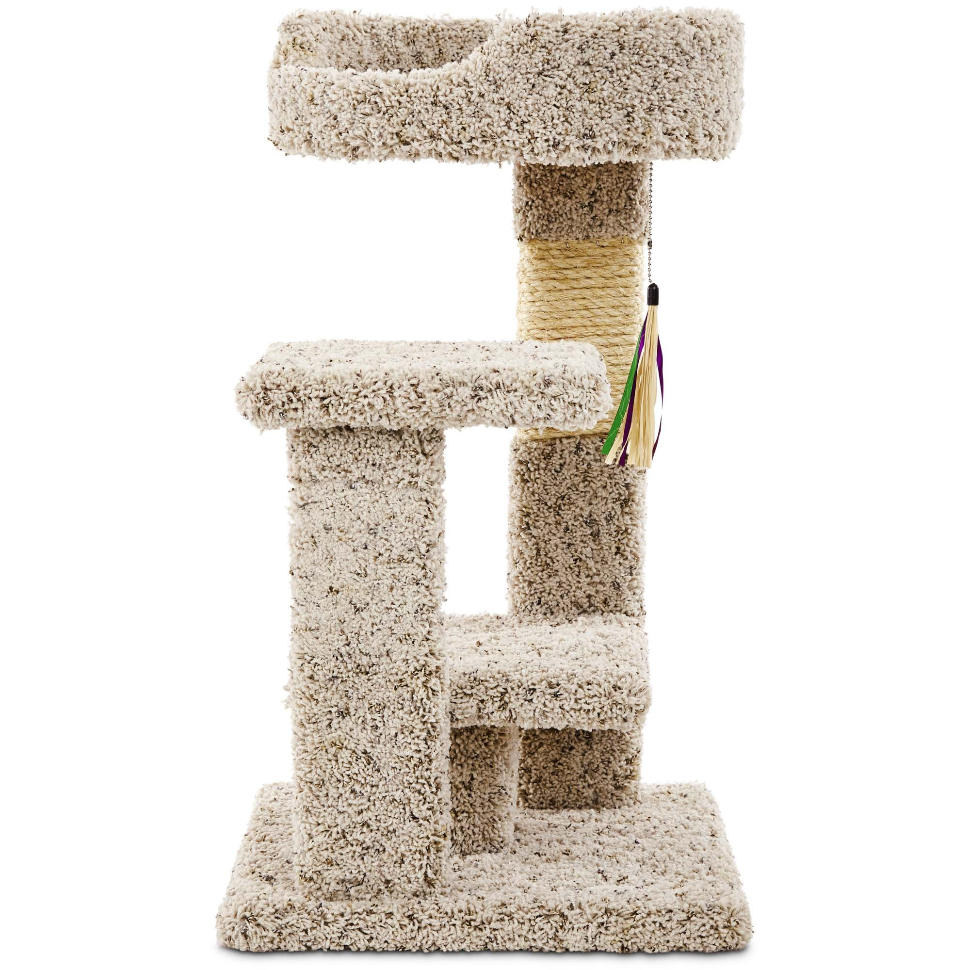 You & Me Kitty Play Yard with Toy, Regular, Off-White / Off-White