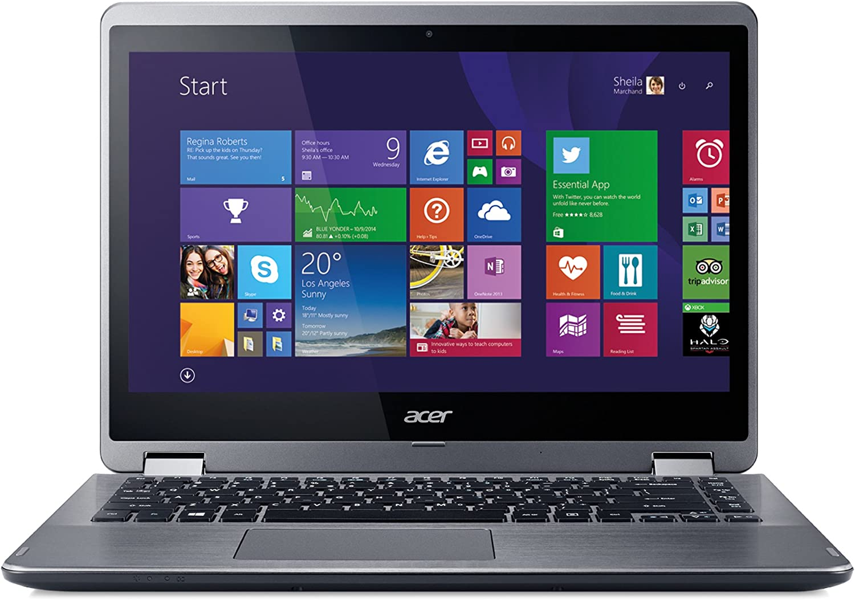 "Acer Aspire R3-471T-57JG 14"" Touchscreen LED Notebook - Intel Core i5 i5-5200U Dual-core (2 Core) 2.20 GHz - Silver NX.MP4AA.013"