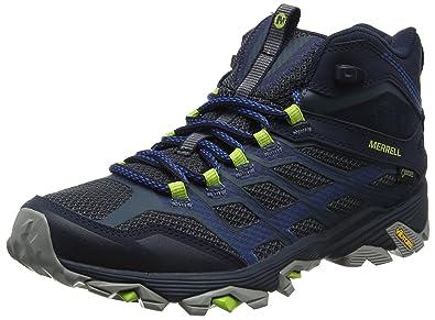 4591fb7347a Merrell Men's Moab FST Mid Gore-tex High Rise Hiking Boots