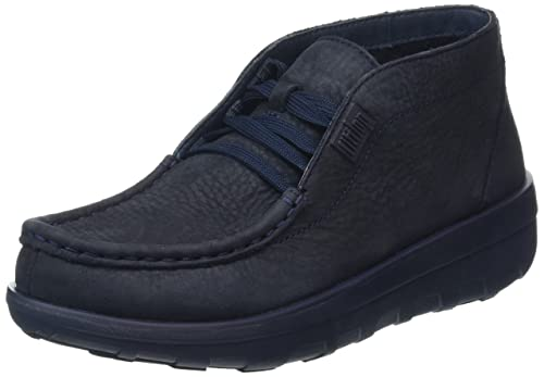 Fitflop Loaff Lace-Up, Botas Mujer, Azul - Blue (Supernavy), 37 (4 UK)