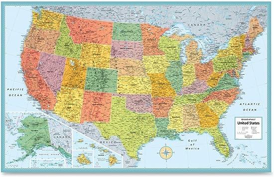 Amazon Com Rand Mcnally Usa Wall Map Ran528959999 Office