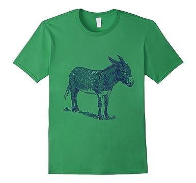 99a41399 Amazon.com: Donkey T-Shirt. Cool Nature Donkey Tee: Clothing