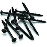 8 x 1-1/2 HighPoint Round Washer Head Woodworking Screws, Black Oxide 100 pc