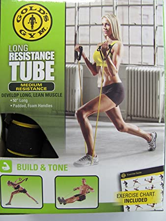 Amazon.com: Golds Gym largo tubo de resistencia: Sports ...
