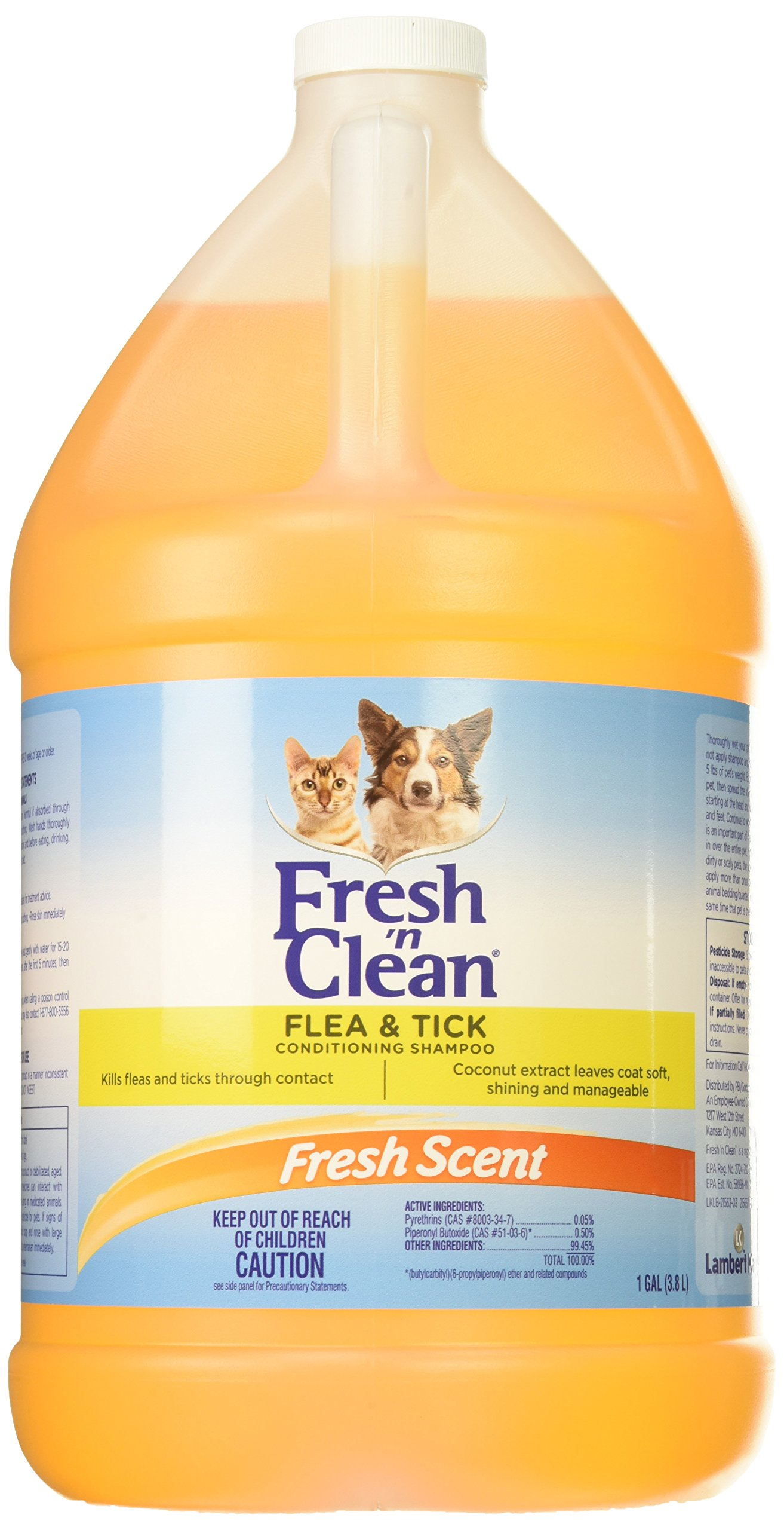 Fresh N Clean 21563 Flea/Tick Conditioning Shampoo, 1 gallon