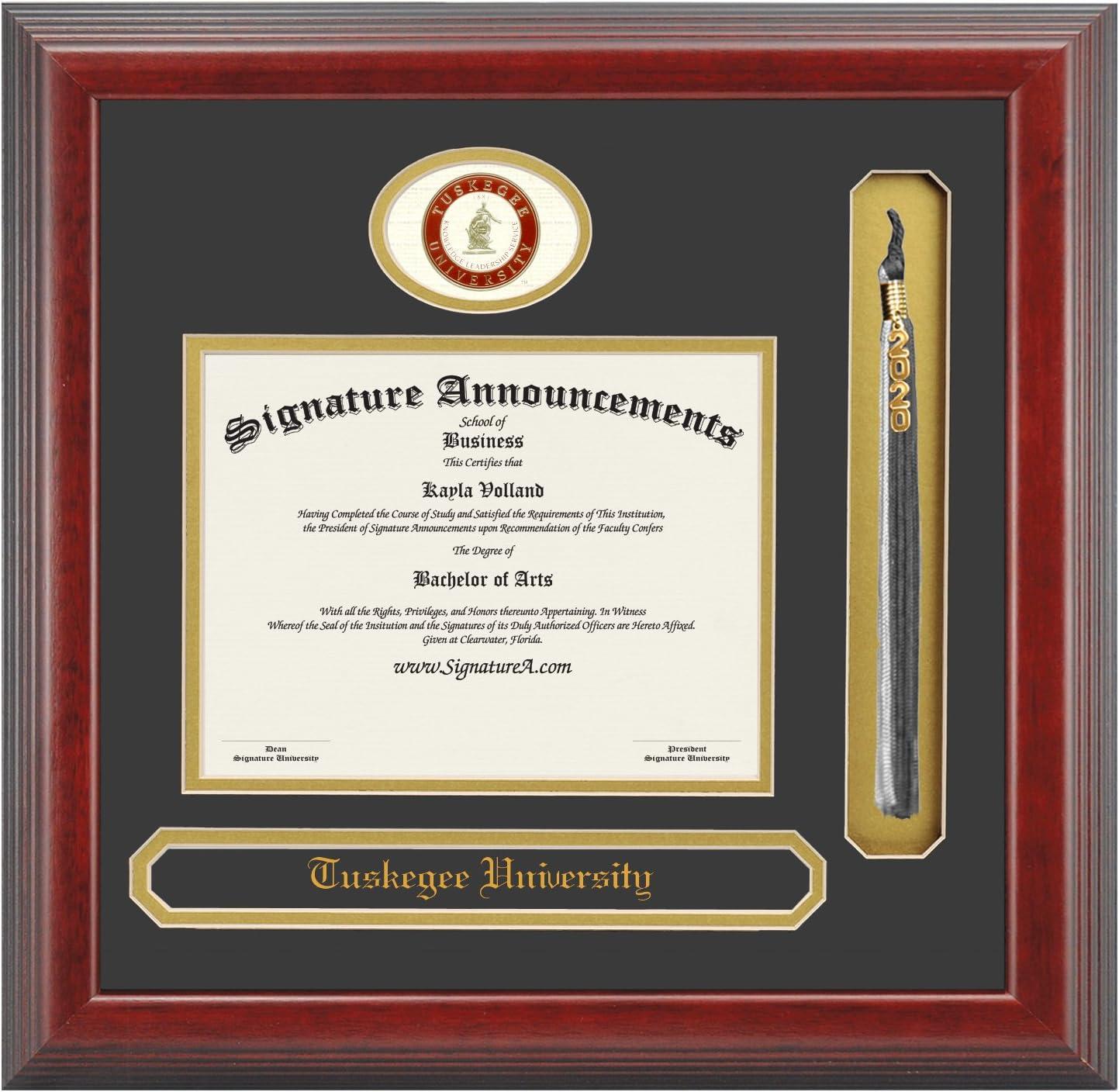 Signature Announcements University-of-Louisiana-at-Monroe Undergraduate Professional//Doctor Sculpted Foil Seal Graduation Diploma Frame 16 x 16 Cherry
