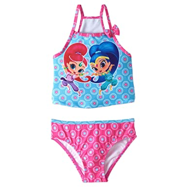 75a1b53875b57 Amazon.com: Shimmer and Shine Girls Swimwear Swimsuit (Toddler/Little Kid):  Clothing