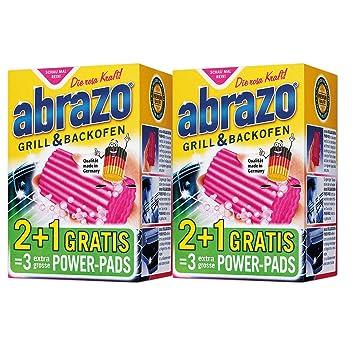 abrazo - Esponja de limpieza para parrillas y hornos (2 x 2 + 1 ...