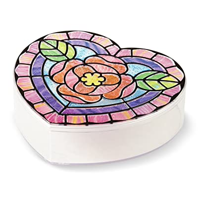 Melissa & Doug Stained Glass Made Easy Heart Keepsake Box With 50+ Stickers: Toy: Toys & Games