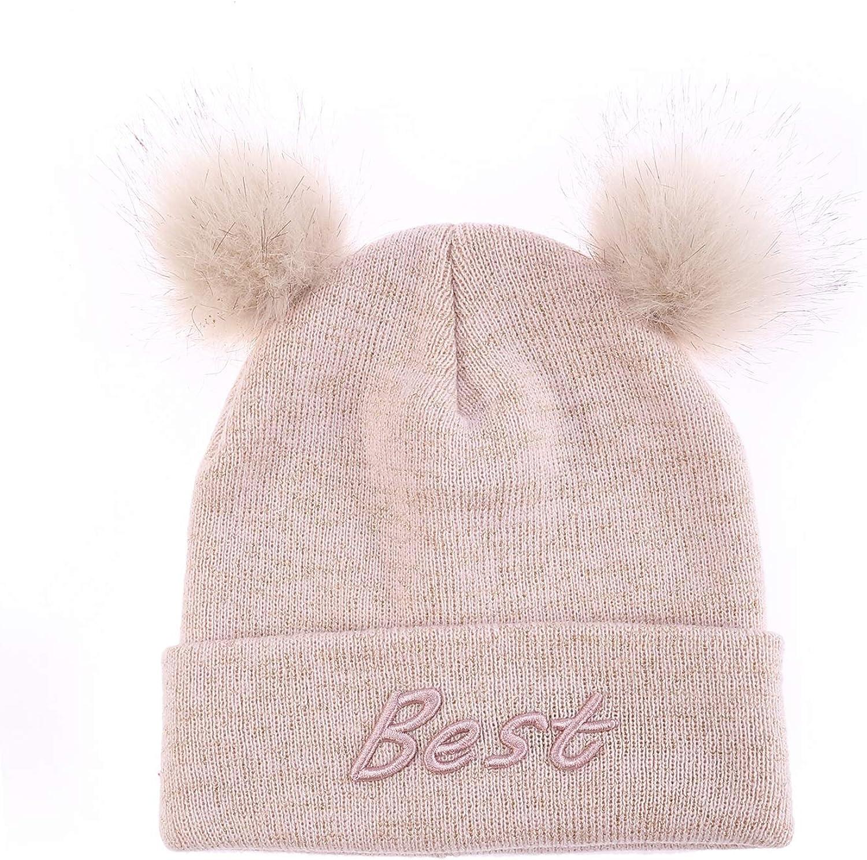 Best Friend Hat Scarf and Gloves Winter Baby Collar Scarf Girls Pom Beanie