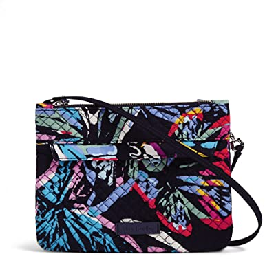 0567af9453d Vera Bradley Iconic RFID Custom Crossbody, Signature Cotton, Butterfly  Flutter