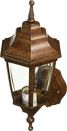 Boston Harbor BRT-BPP1611-RB3L 6840698 Dimmable Outdoor Lantern, 1 60 13 W Medium A19 Cfl Lamp, Rustic, Brown