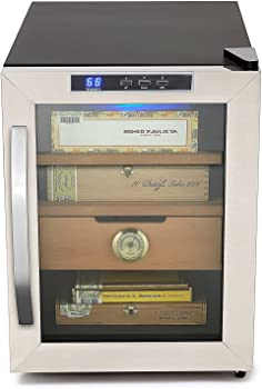whynter chc-120s stainless steel 250 count cigar cooler humidor