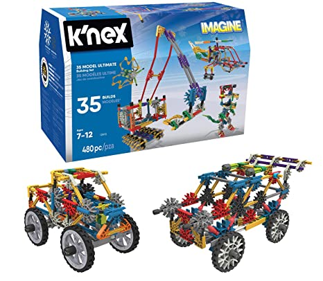 0e6eaa11f5d Amazon.com: K'NEX – 35 Model Building Set – 480 Pieces – For Ages 7+ ...