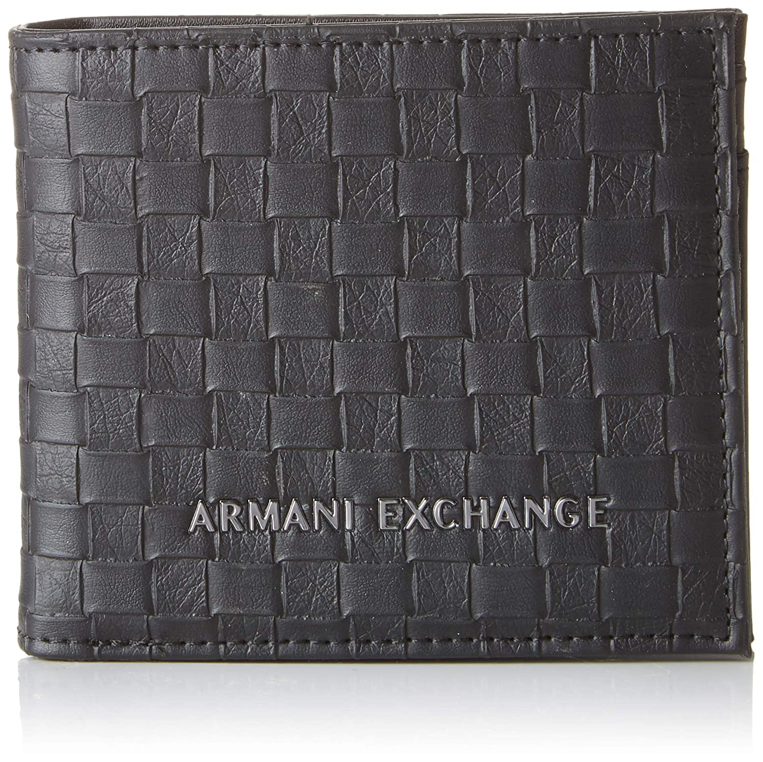 Amazon.com: Armani Exchange Mens Bifold Coin Case Wallet ...