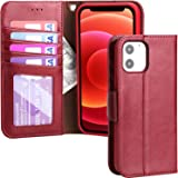 Restoo Compatible with iPhone 12 Mini Case,Wallet Case with Card Holder PU Leather 4 Card Slot Kickstand Flip Cover for iPhon