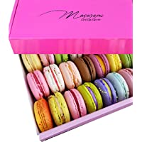 Leilalove Macarons - Mademoiselle de Paris Collections of 15 Flavors - Macarons are packed individually for maximum…