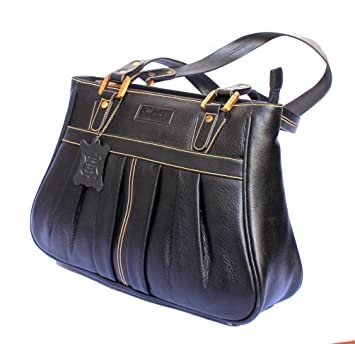 Buy STOCK CLEARANCE SALE- Designer Genuine Pure Leather Women s Shoulder Bag  in Rich Black Colour Online at Low Prices in India - Amazon.in 73a4f4feec8d0