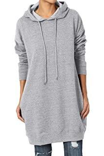 d204be341f4 TheMogan S~3X Basic Loose Fit Pocket Pullover Hoodie Long Tunic Sweatshirts