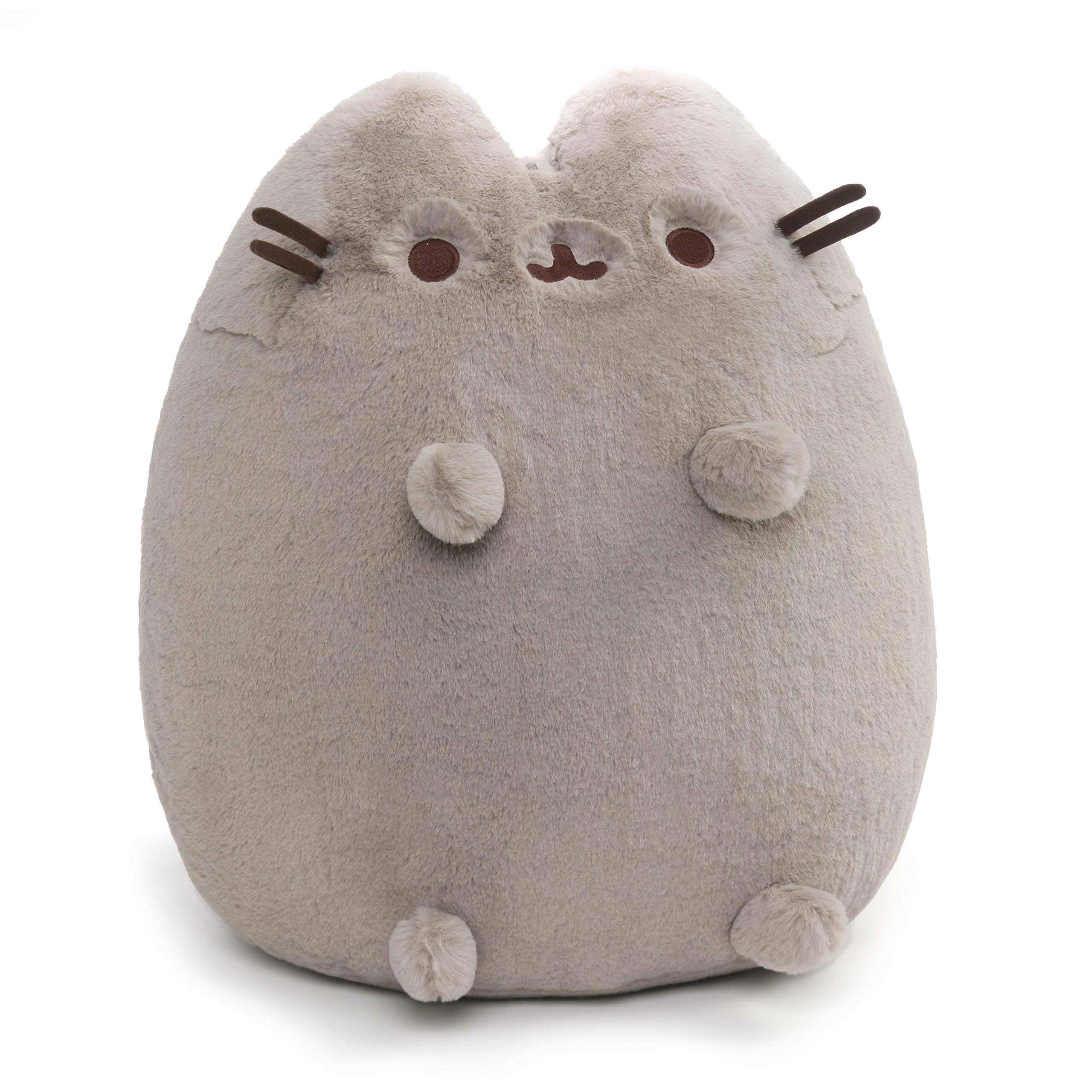 GUND Deluxe Pusheen Sitting Pose Plush Stuffed Animal Cat, Grey, 19'' by GUND