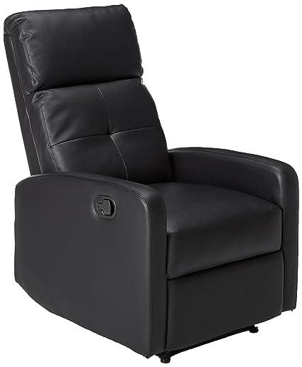 amazon com great deal furniture teyana black leather recliner club rh amazon com black leather recliner sofa black leather recliner with ottoman