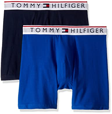 12ece72823f337 Tommy Hilfiger Men's Underwear Modern Essentials Boxer Briefs, Cobalt, Small