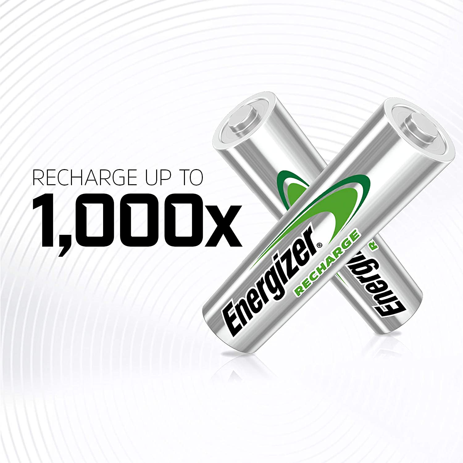 700 mAh NiMH Chargeable for 1,000 Cycles Pre-charged Energizer Rechargeable AAA Batteries Recharge Universal 8 Count