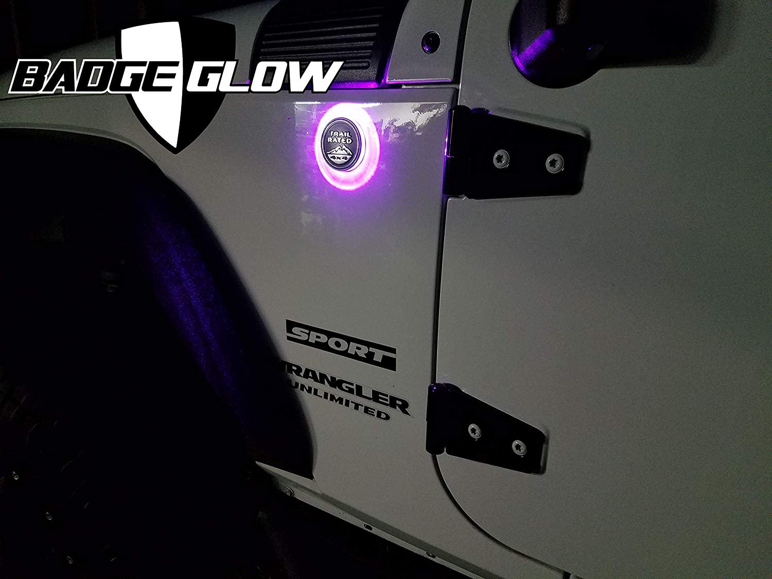 Badge Glow LED Back Light Designed For The Jeep Wrangler /& Cherokee Trail Rated Badge ~ Available in 6 LED Colors ~ Off-road Use Only ~ MADE IN THE USA! UV//Pink