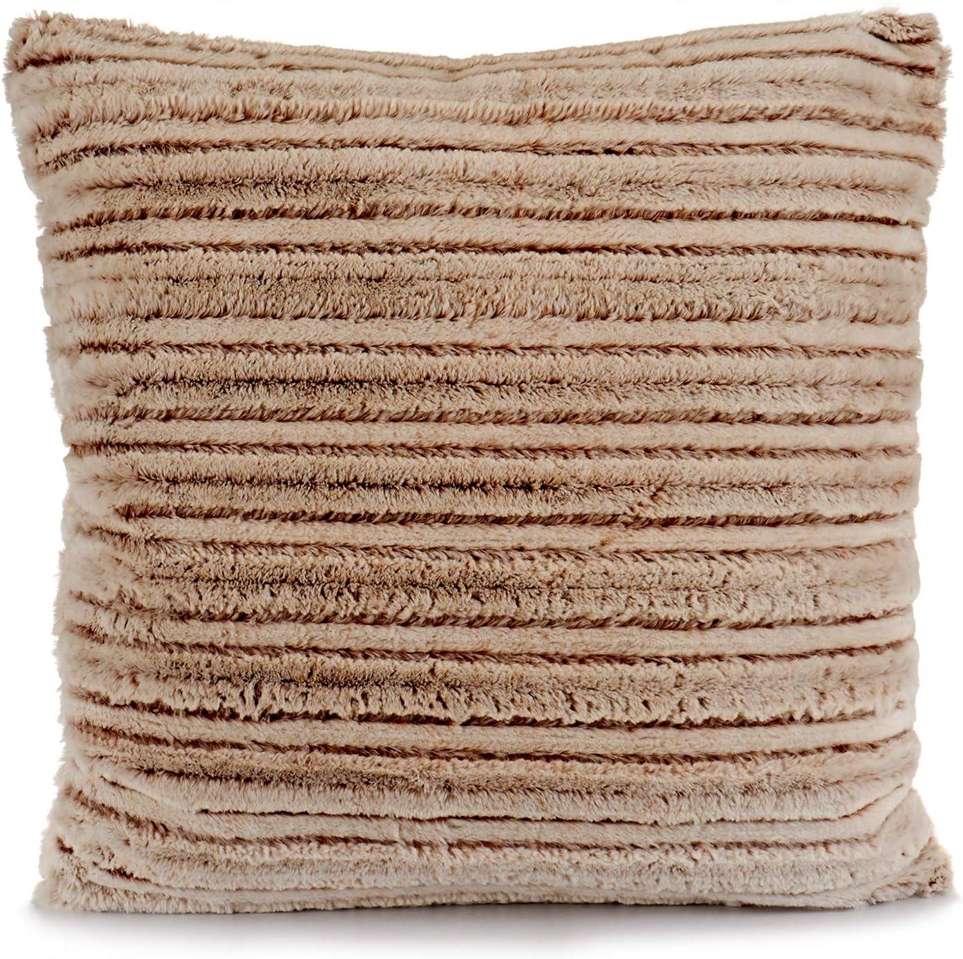 TU TENDENCIA UNICA Cojín de Pelo sintético Color Beige con Relleno de algodón y poliéster. Medidas: 60 x 20 x 60 cm: Amazon.es: Hogar