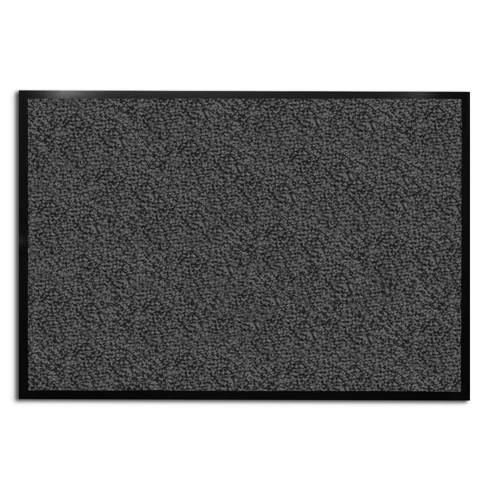 casa pura Carpet Entrance Mat, Gray (Mottled) 36'' x 236'' | Absorbent, Non-slip, Indoor/Outdoor (Multiple Sizes)