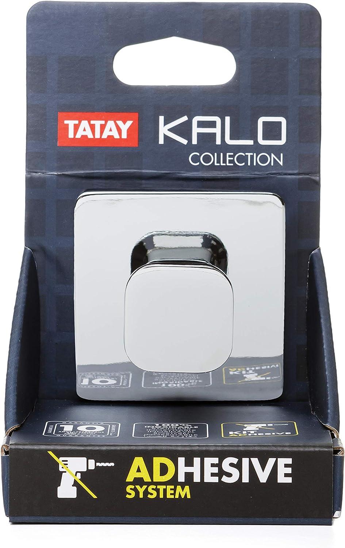6 x 6 x 4.5 cm en zamak Cromado Sistema de fijaci/ón 3M Colgador de ba/ño Tatay Kalo