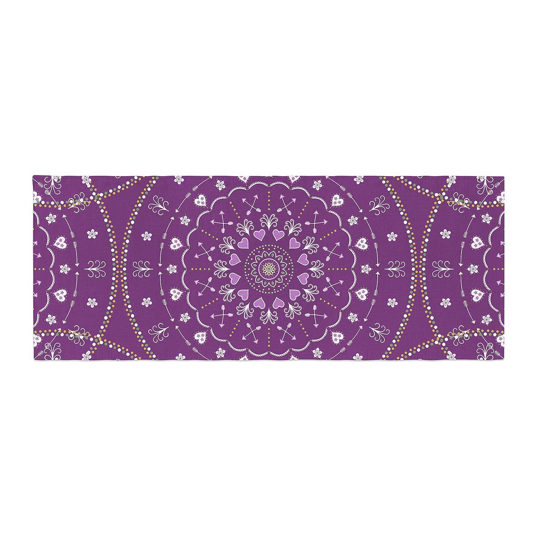 Kess InHouse Cristina Bianco Design Mandalas Purple Geometric Bed Runner