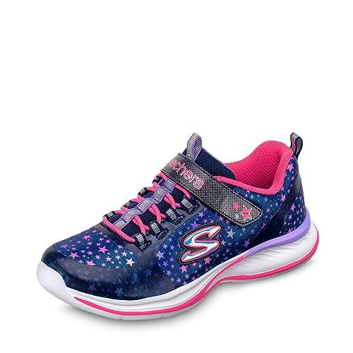 Skechers - Zapatillas de Tela para niña, Color Azul, Talla 30 EU