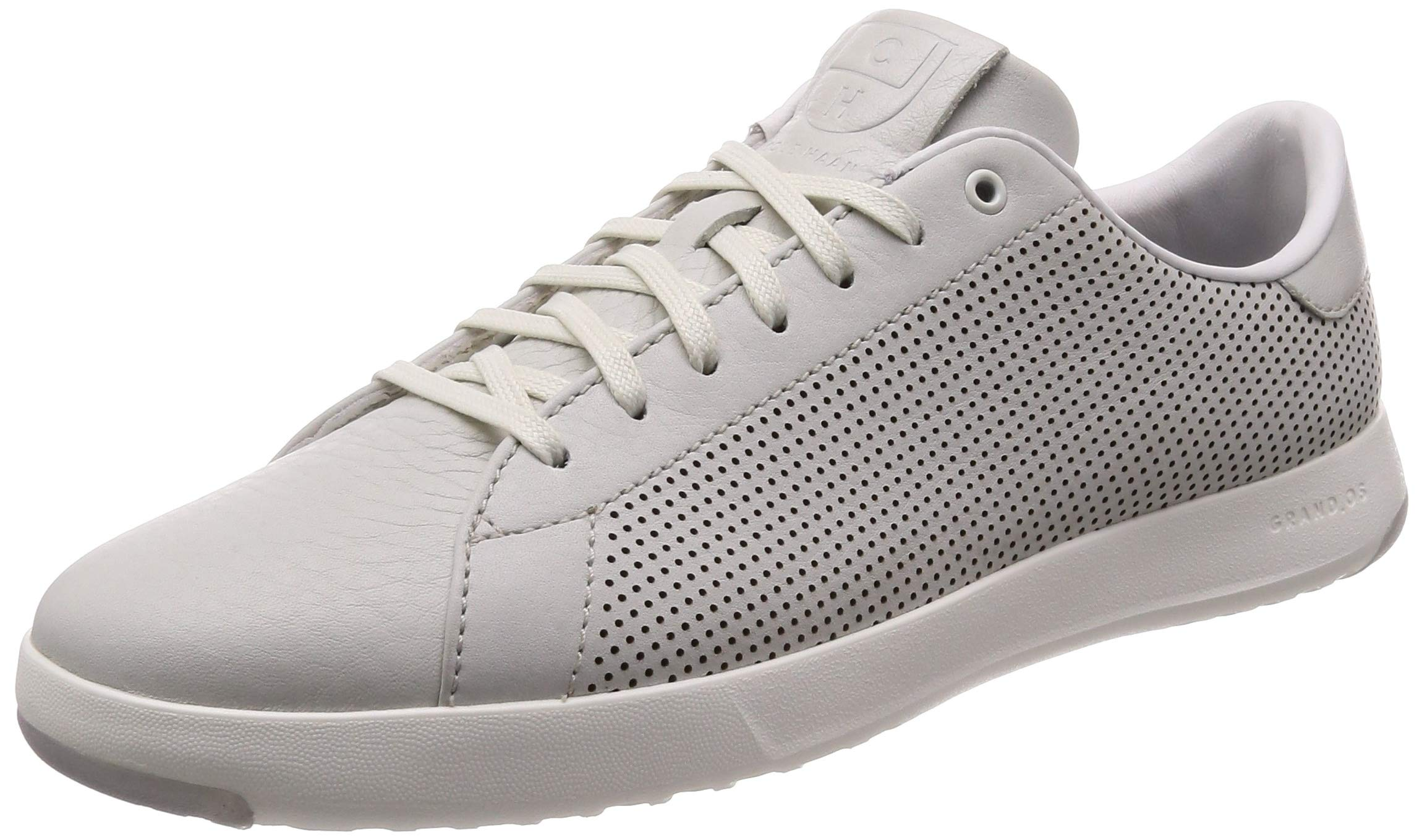 Cole Haan Mens Grandpro Tennis Sneaker 7 Chalk Tumbled Leather