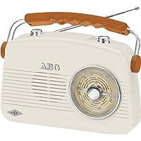 Radio stéréo rétro AEG - NSR - 4377 - avec Lecteur CD, MP3 et USB et Lecteur de Cassettes Radio rétro UKW/MW Ivoire