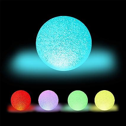 Relaxdays Lámpara LED redonda, Cambio de color, A pilas, Sin cable, Interior