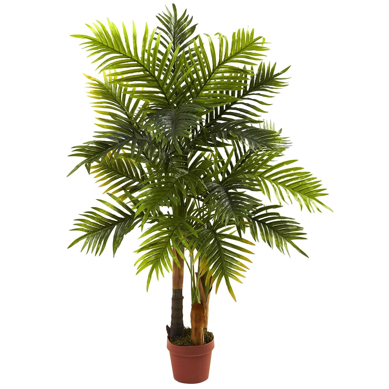 Arbol de palma, artificial, Casi natural en color verde