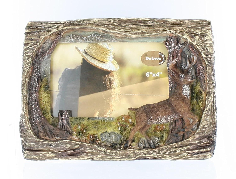 Amazon.de: Hirsch, aus Holz, 10 X 15 cm Bilderrahmen-Trophäe Reh ...