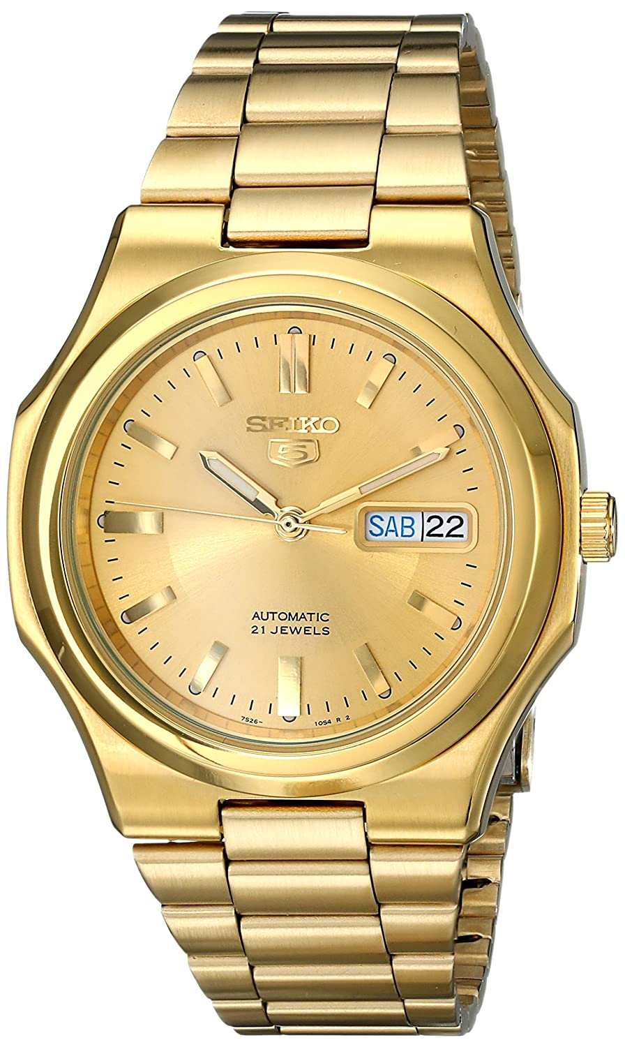 Seiko Men s SNKK52 Seiko 5 Automatic Gold-Tone Stainless Steel Bracelet Watch