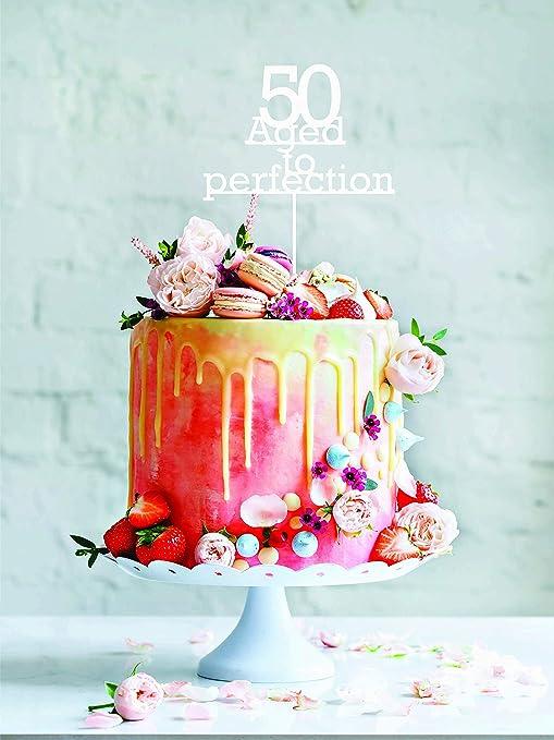 Decoración para tarta de boda para la pareja 50 años de edad ...