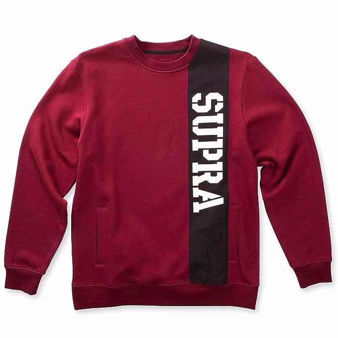 Supra Crew Spar Sudadera, Hombre, Rojo (Burgundy), L: Amazon.es: Deportes y aire libre