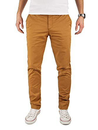 189cb9a8c014c0 Yazubi Men's Trousers Chino Pants Kyle Slim - Tapered Coffee Caramel,  Tabacco Brown (4R171327