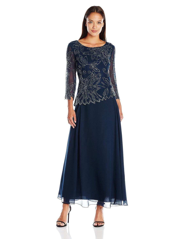 Amazon.com: J Kara Women\'s Petite Floral Beaded Gown: Clothing